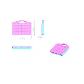 جعبه ابزار 20 خانه تمام پلاستیک L338_W267_H4