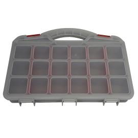 ارگانایزر یا نظم دهنده ابزار مدل کیفی 20 خانه تمام پلاستیک L338_W267_H46.7