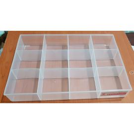 جعبه قطعات 12 خانه ویترینی