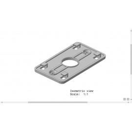 نگهدارنده پلاستیکی برای جعبه های دیواری-کوچکElectronic Wall-Mount Box Hanger
