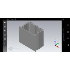 جعبه آلومینیومی رادیاتی - L-*W65/5*H40mm